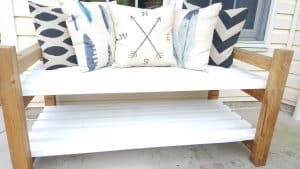 DIY Garden Bench - Complete