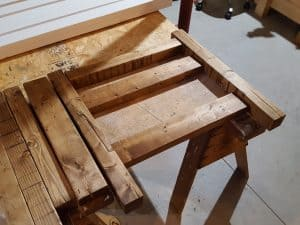 Farmhouse Outdoor Garden Bench - Sanded and Stained, Provincial Stain on Pine