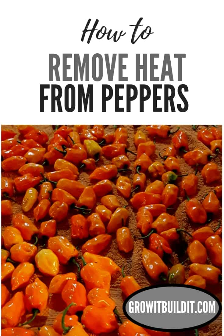remove heat from peppers pin