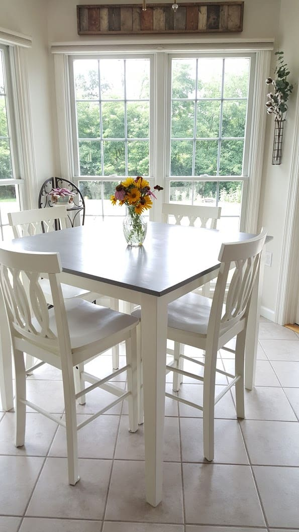 Dining Table Redo to Farmhouse Style