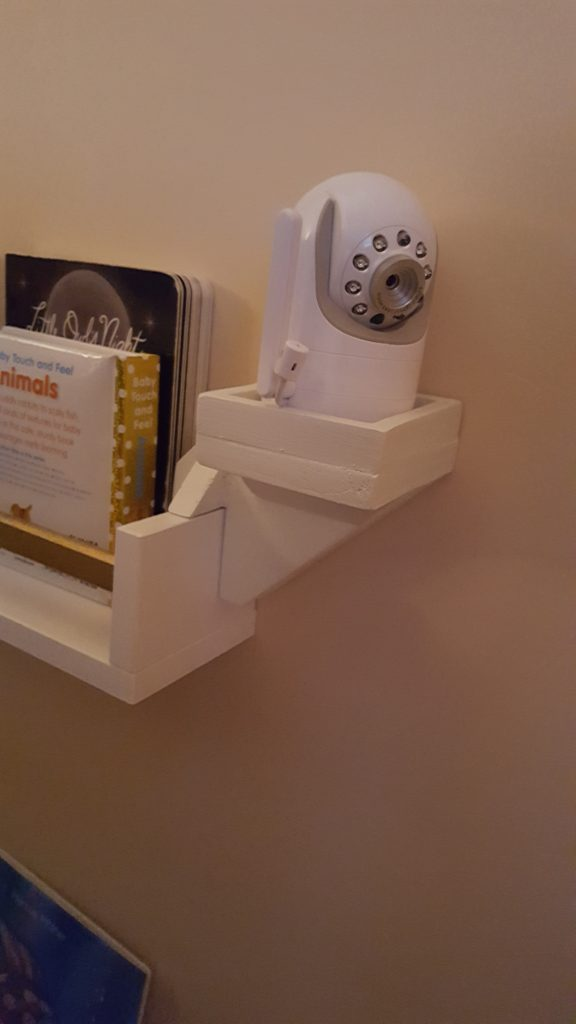 diy baby monitor shelf bracket