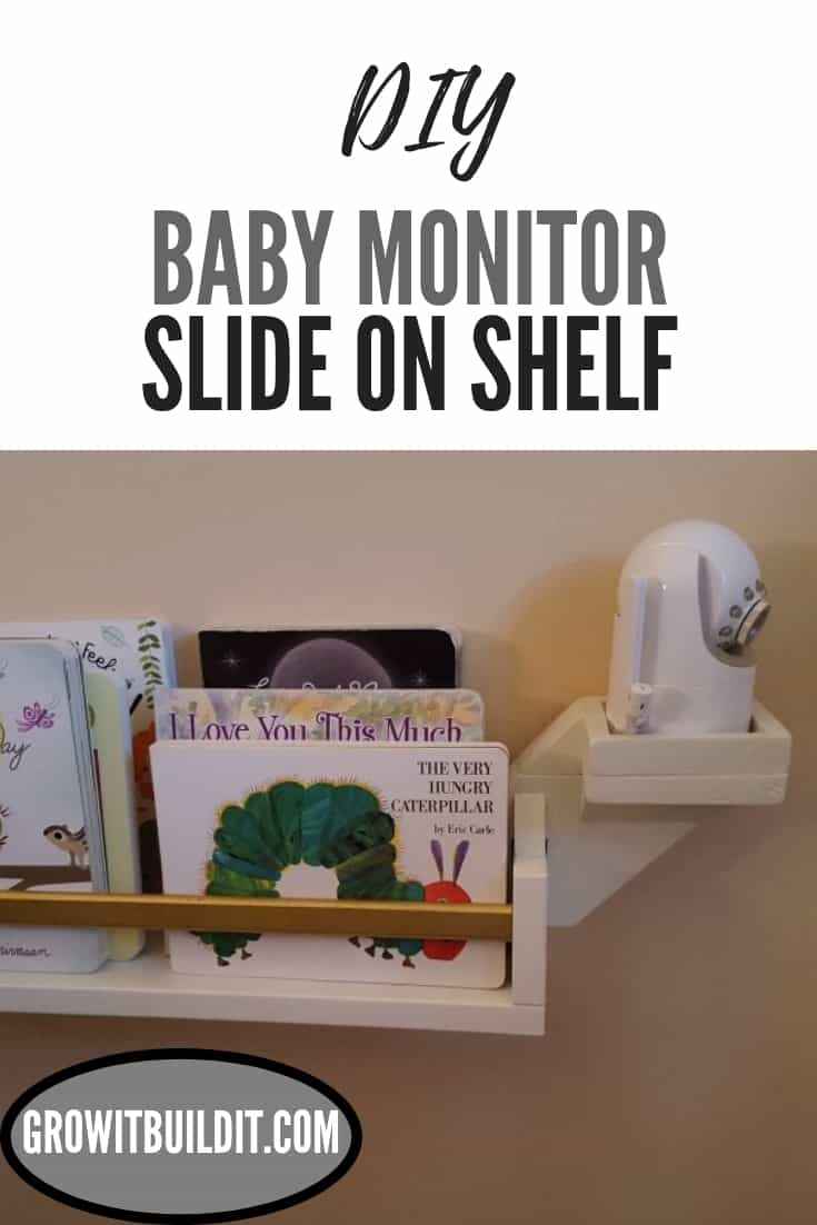 DIY baby monitor shelf