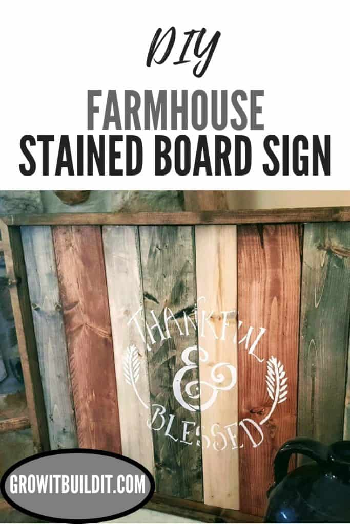 Stained Farmhouse Sign DIY