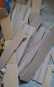 shredded cardboard compost
