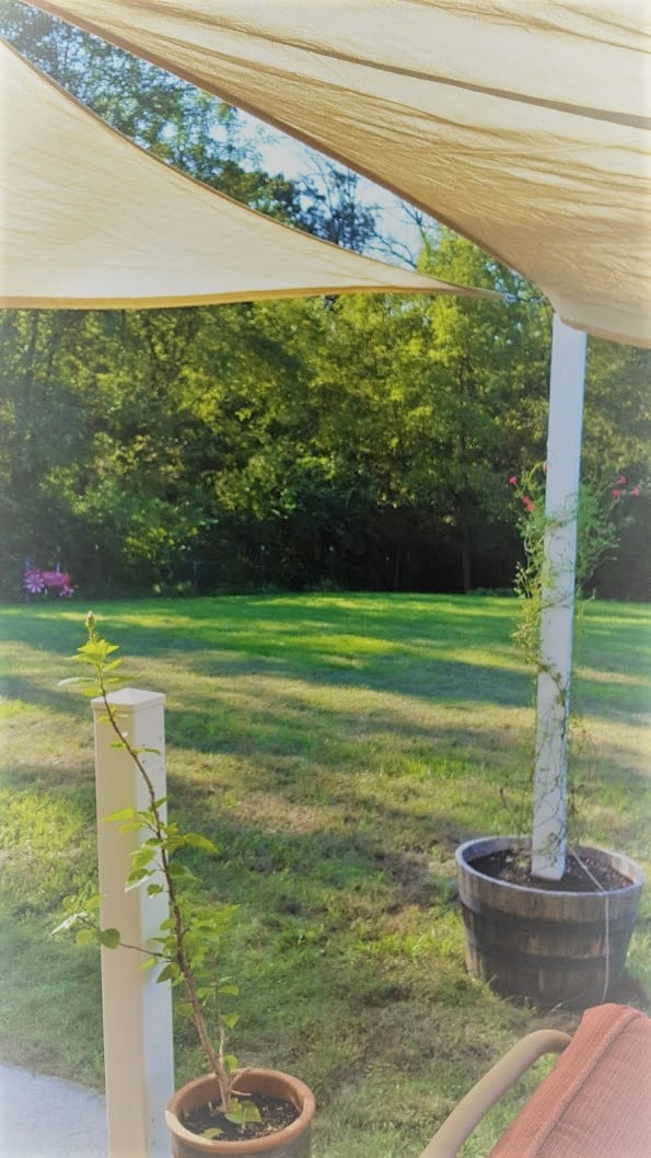 Simple Retractable Patio Shade Sail System - Growit Buildit