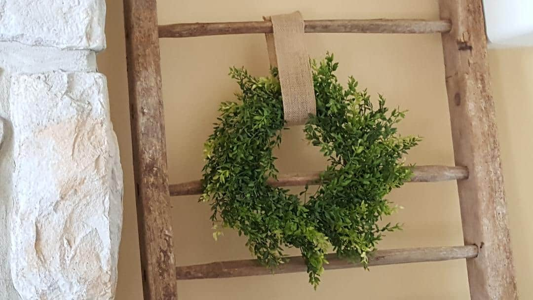Farmhouse Wreath and Blanket Ladder