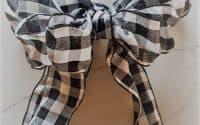 Buffalo Check Farmhouse Style Bow DIY