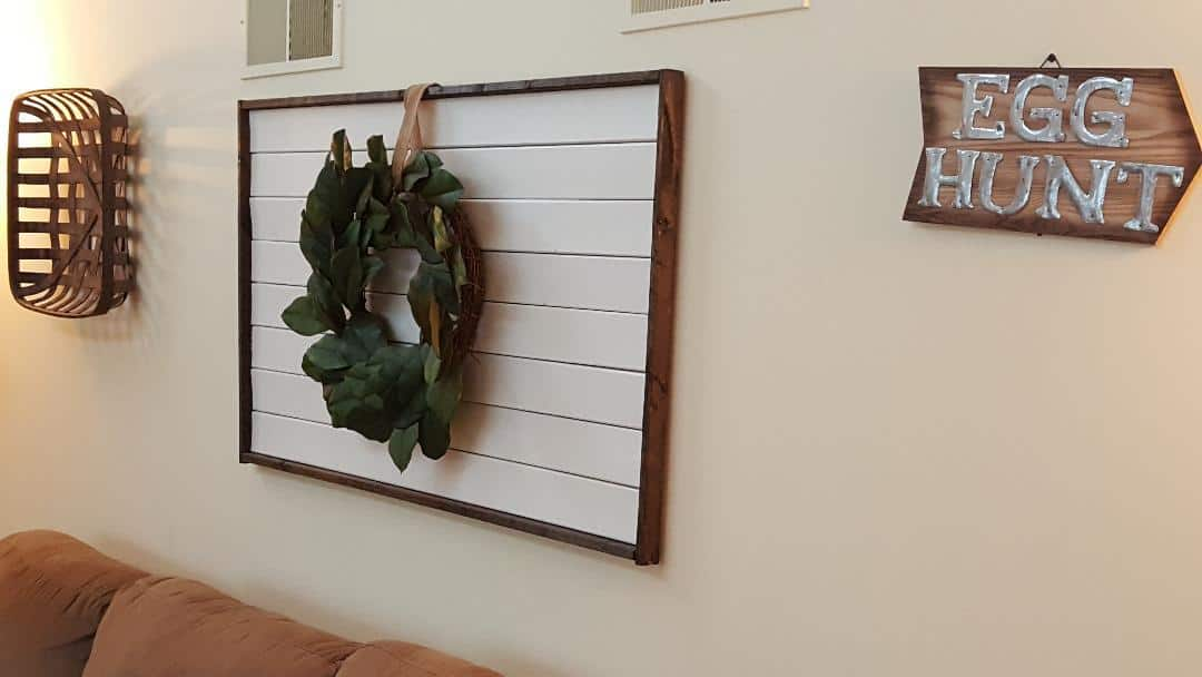 framed shiplap diy plans
