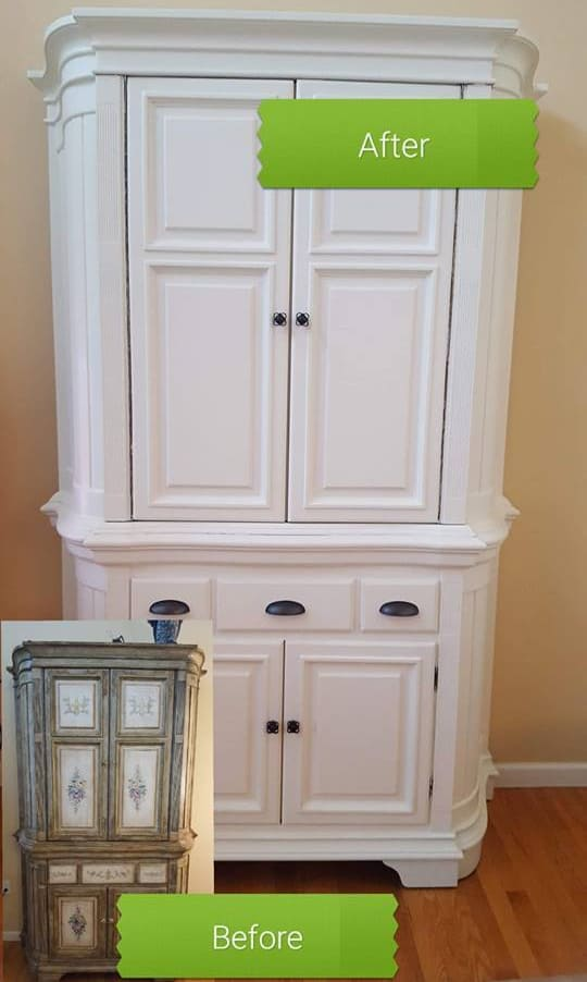 How to Repaint Furniture Before and After