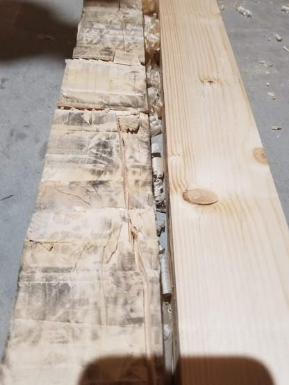 before after pallet wood planed