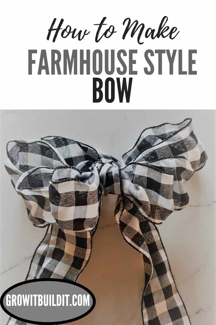 How to Make a Farmhouse Style Bow - DIY