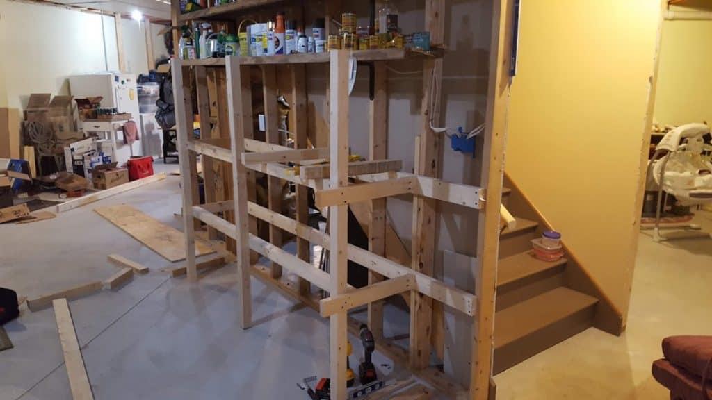 Main frame assembled