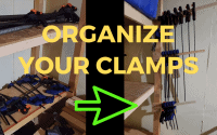 organize your clamps shop hack