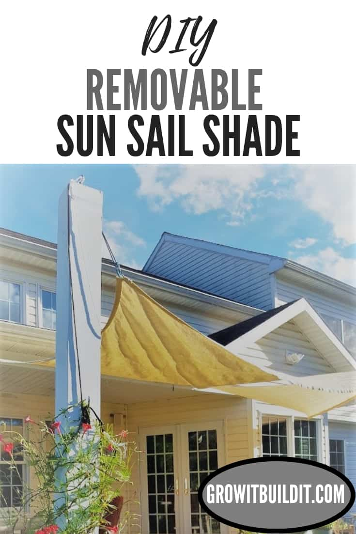 removable sun sail shade pin DIY