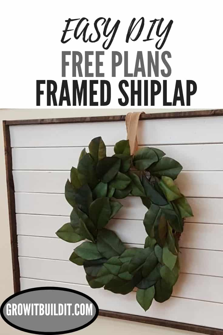framed shiplap diy plans