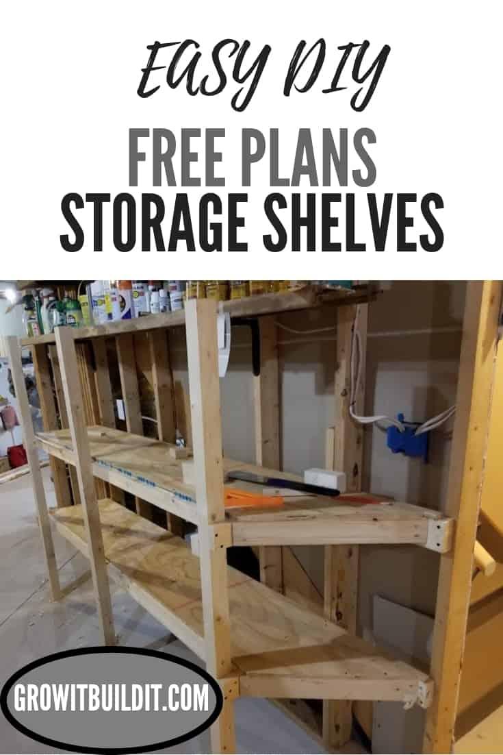storage shelves DIY