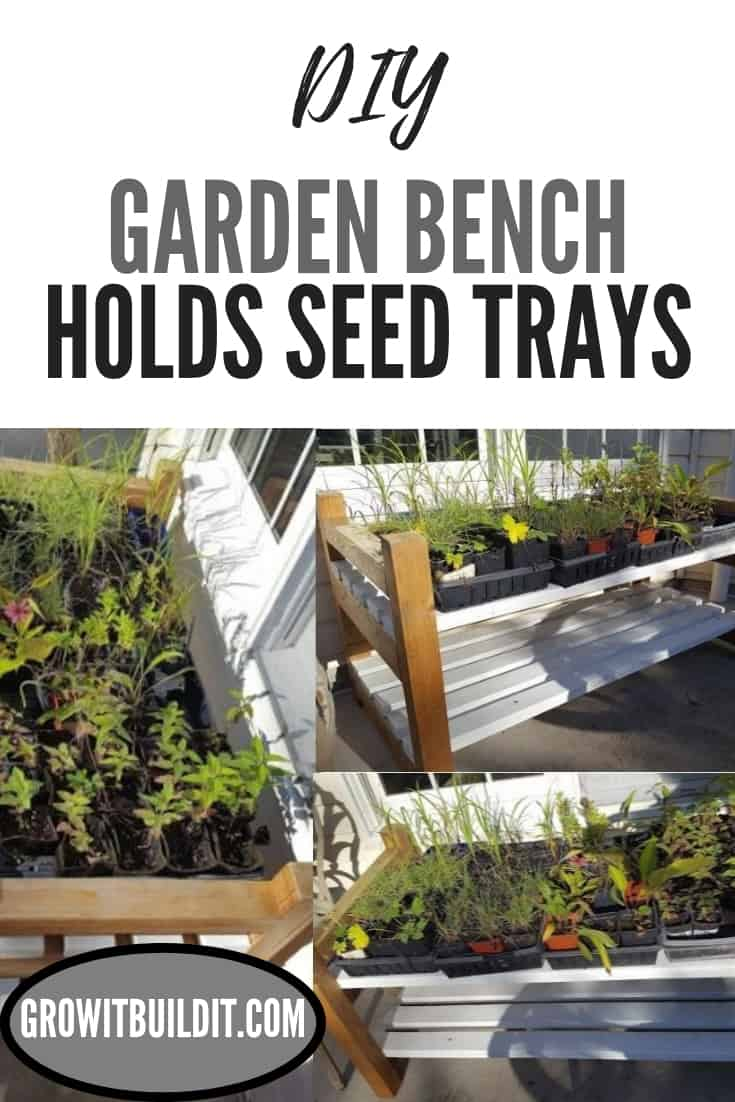 garden bench bench to hold seed trays