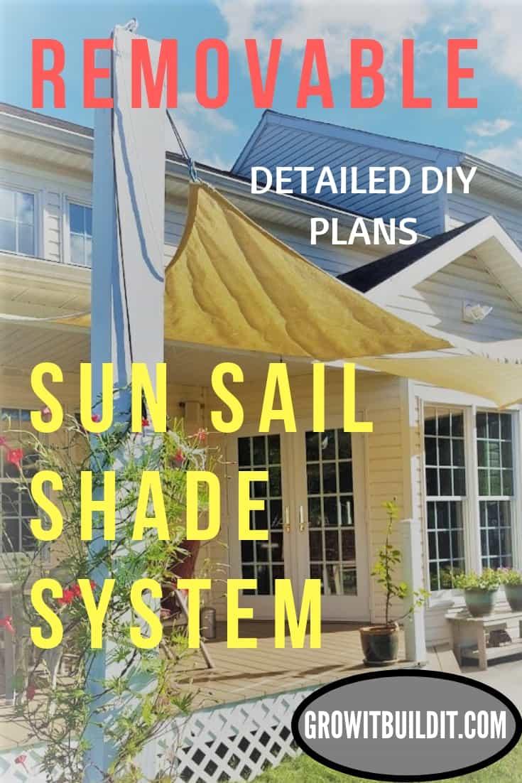 Removable Sun Sail Shade System DIY PLANS