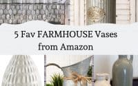 5 Must Have FARMHOUSE Vases from Amazon