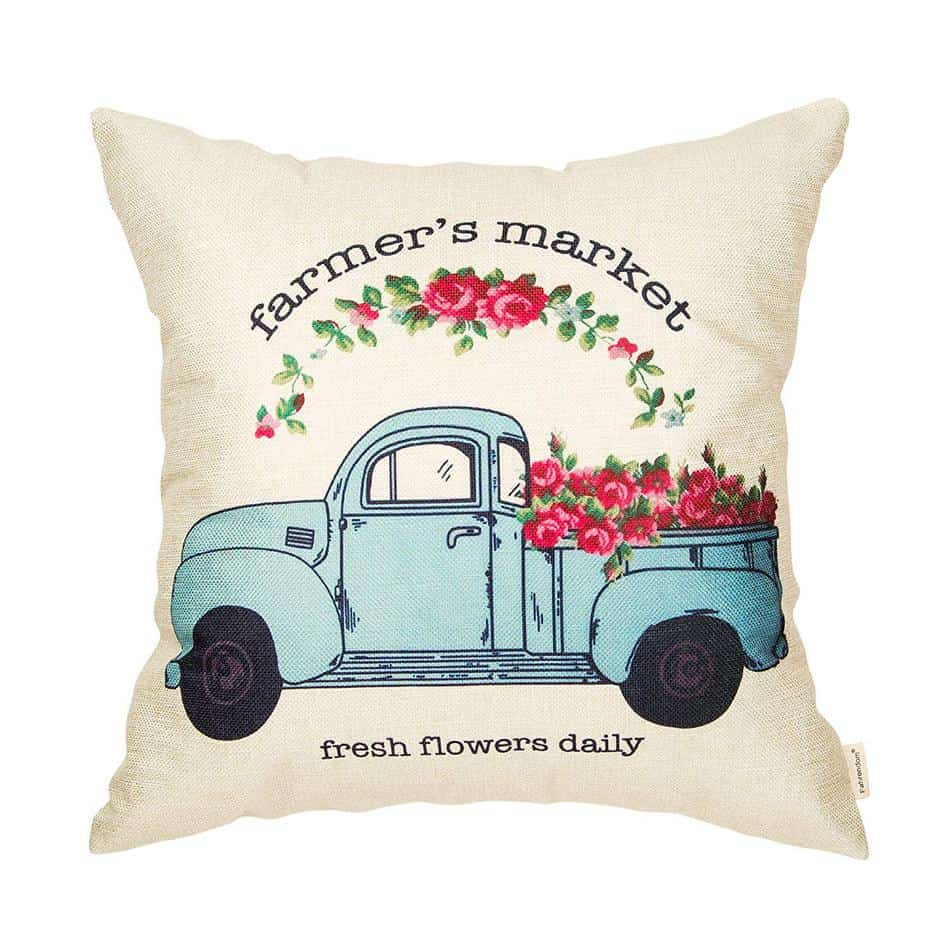 Favorite Spring Summer Farmhouse Pillow Cover from Amazon