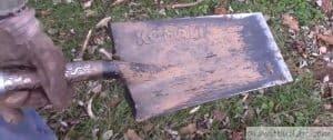 sod cutting spade shovel