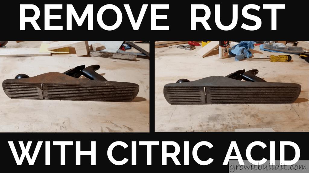 Rust removal citric acid