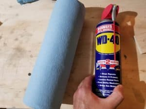 wd40 and shop towels