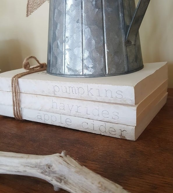Book Stack Easy DIY