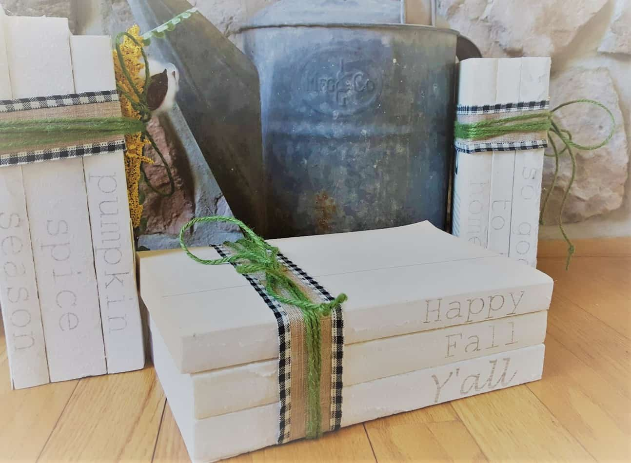 book stack diy without stamps or paint