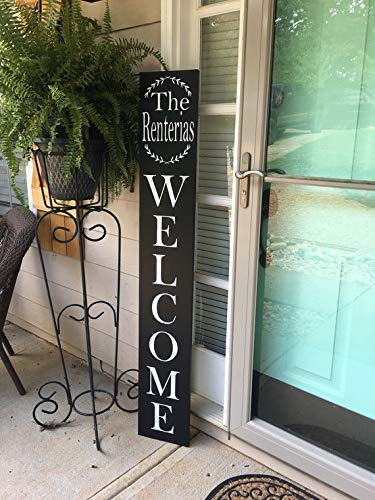 Large Welcome Front Porch Sign - Personalized