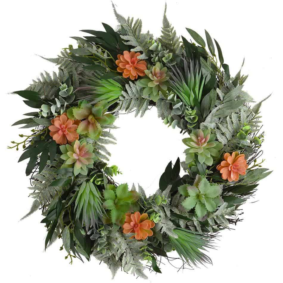 Fall Succulent Wreath From Amazon