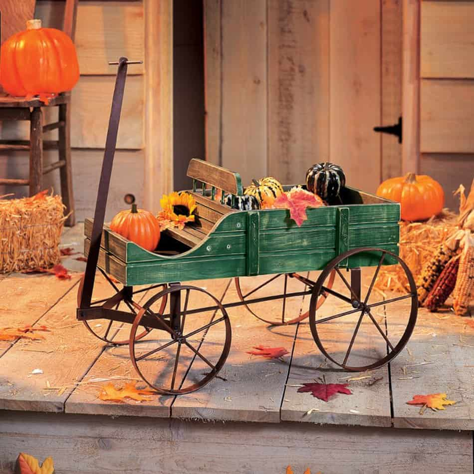 Amish Wagon Decorative Indoor/Outdoor Garden Backyard Planter