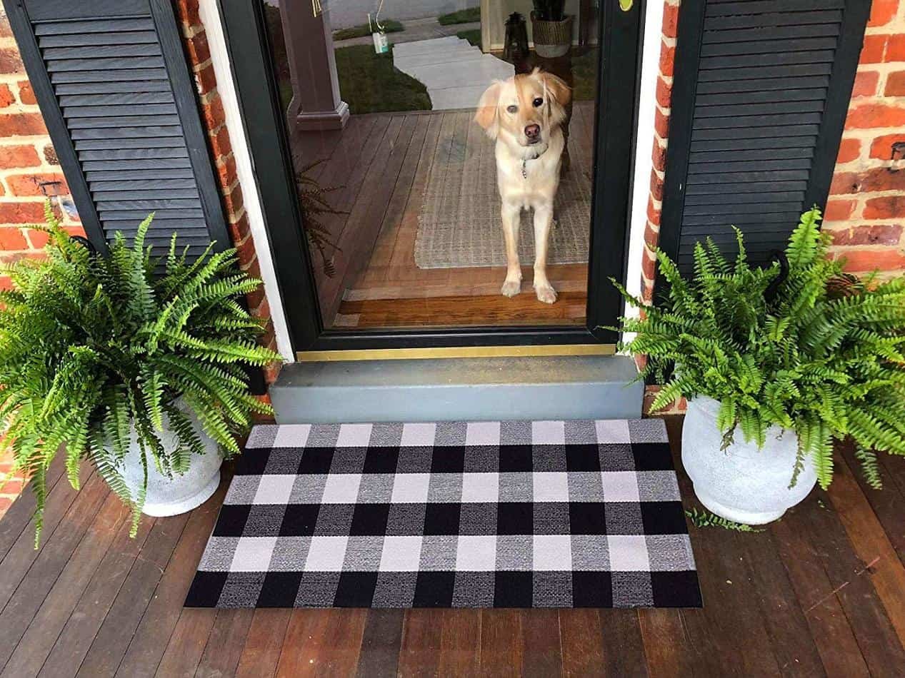 Buffalo Check Welcome Mat