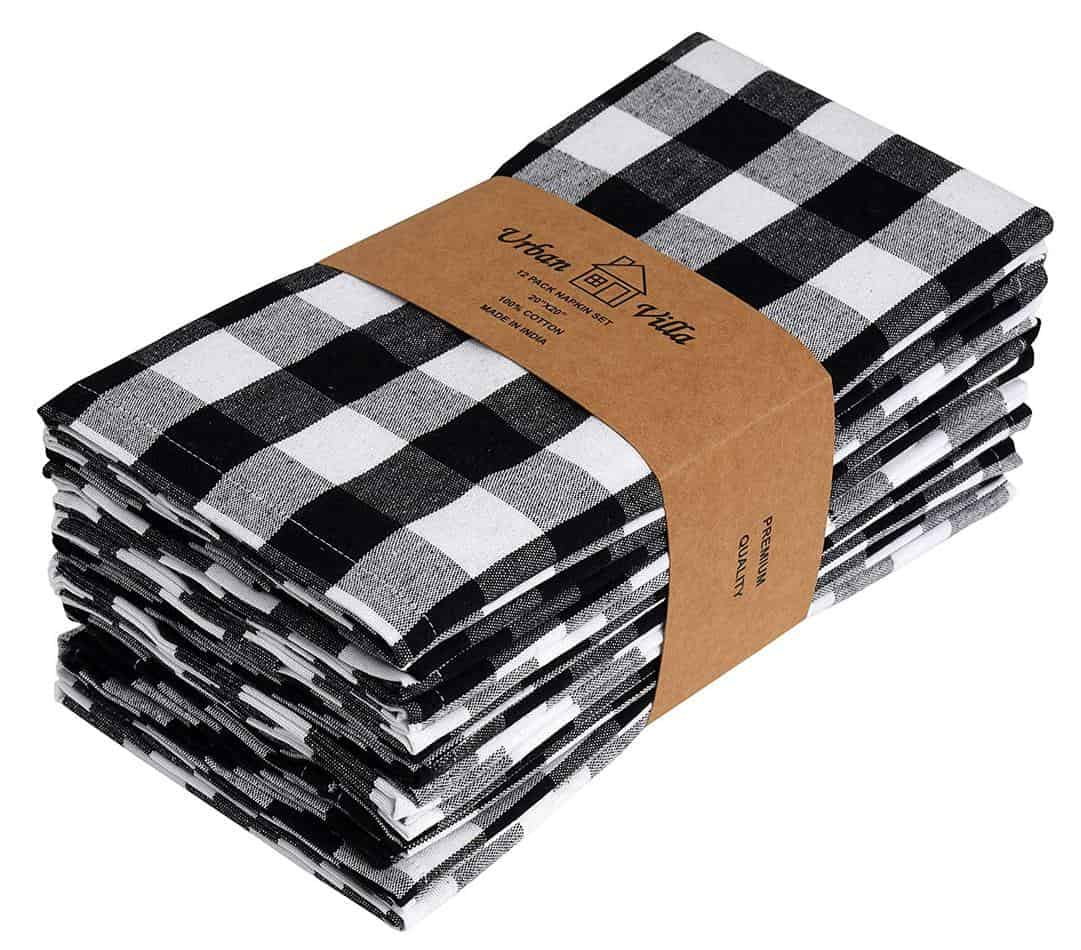 buffalo check cloth napkins