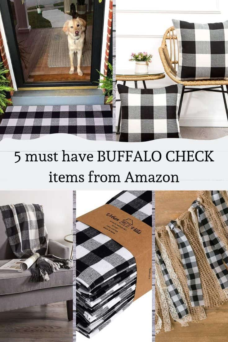 5 Must Have Buffalo Check items from Amazon