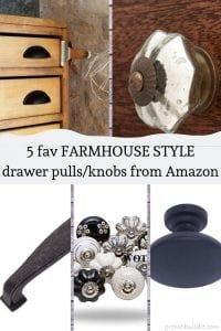Farmhouse style drawer pulls knobs amazon