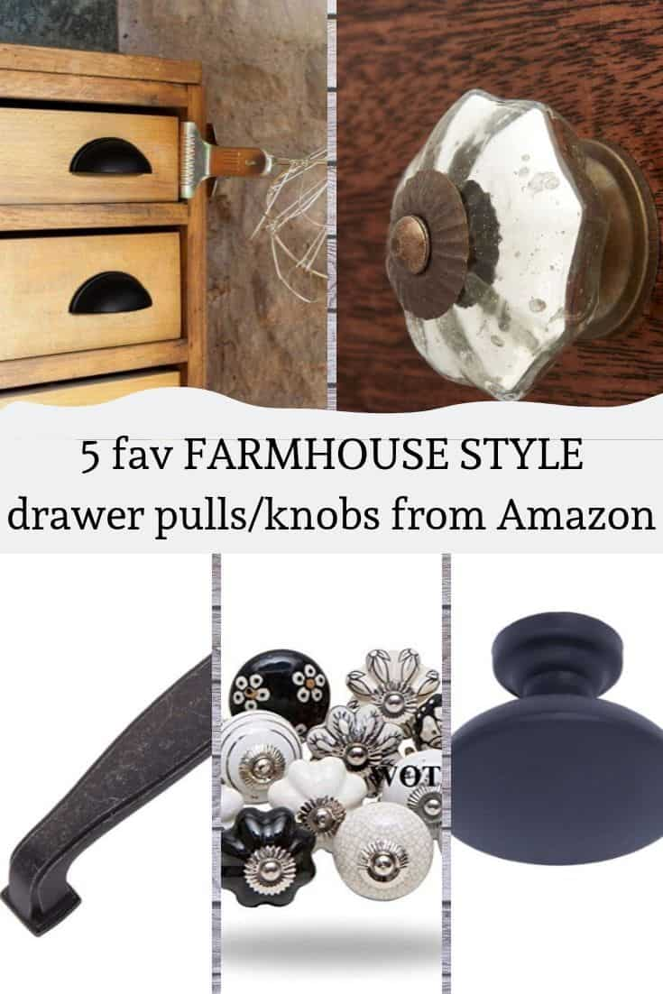 Farmhouse style drawer pulls knobs amazon