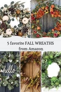 favorite fall wreaths from amazon