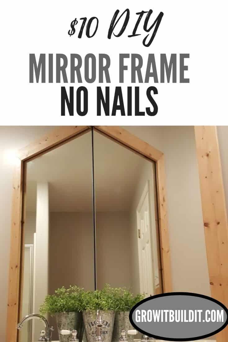 How to frame a mirror diy stick on no nails