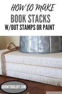How to Make Books Stacks without stamps or paint diy