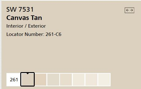 Sherwin Williams Canvas Tan