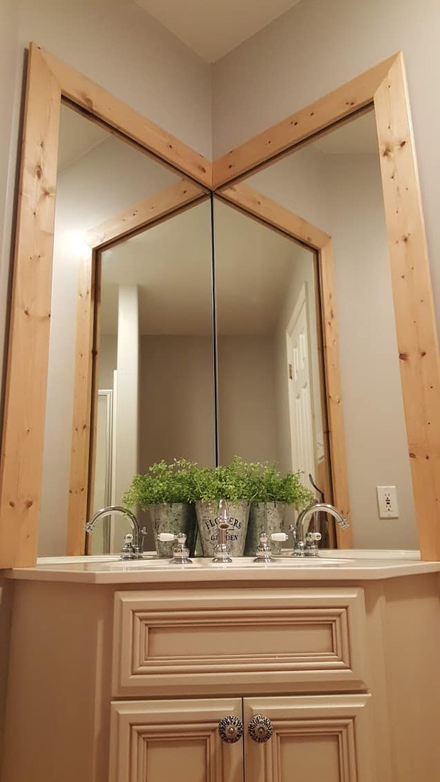 How to Frame a Bathroom Mirror without nails, glue, or screws
