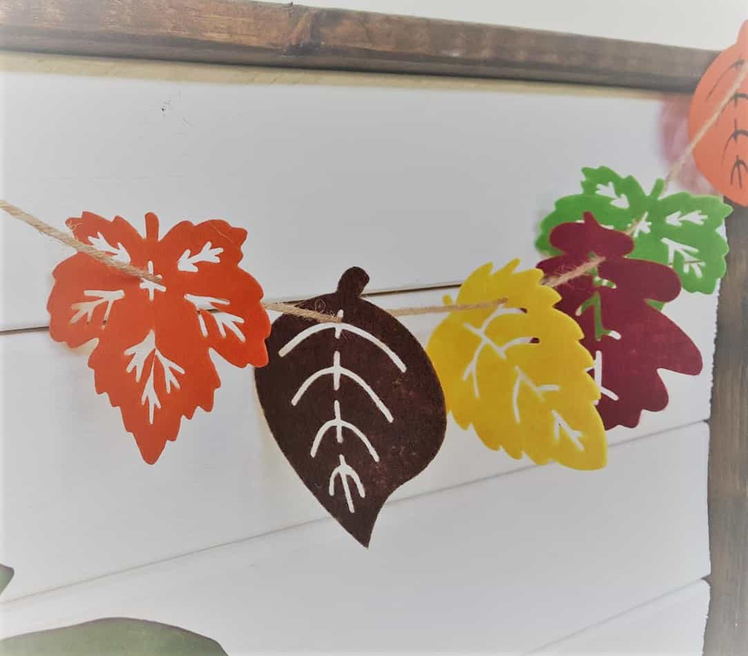 Felt Leaf Fall Garland - Dollar Store DIY
