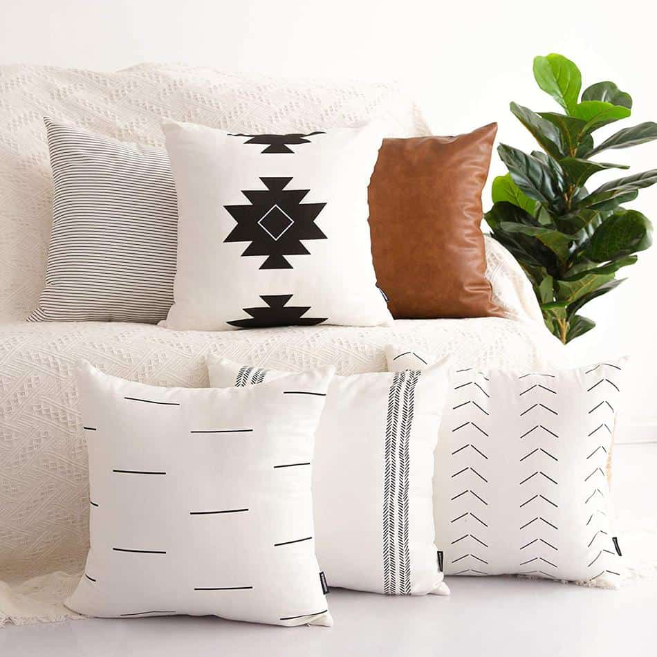 modern farmhouse throw pillow covers Amazon