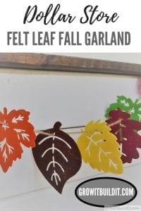 DIY Felt Leaf Fall Garland Dollar Store