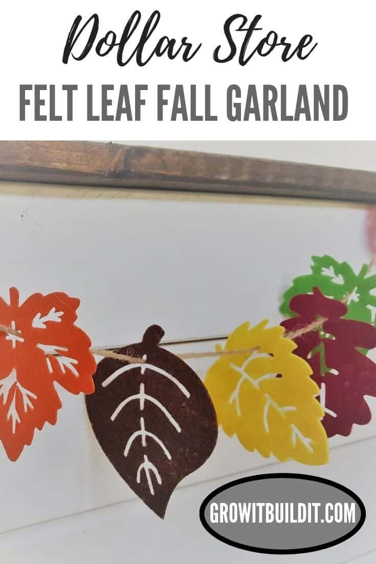 DIY Felt Leaf Fall Garland Dollar Store