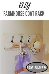 diy farmhouse coat rack