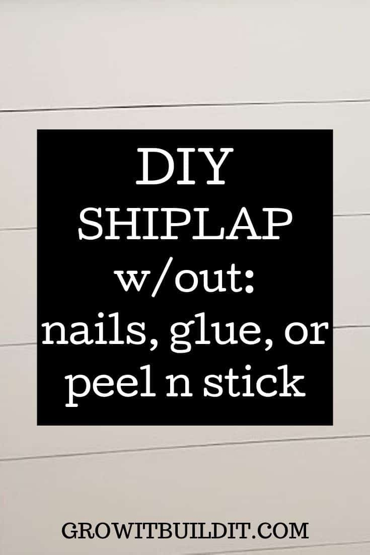 removable shiplap no nails, glue, or peel n stick