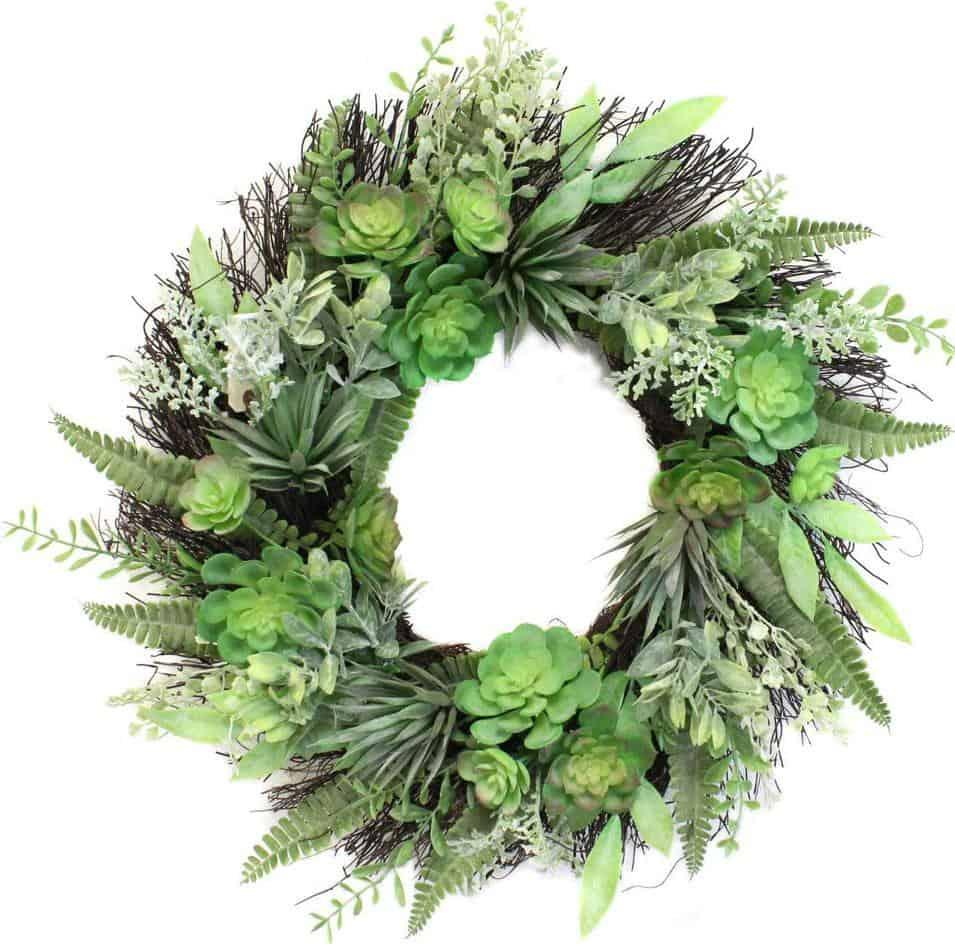22 in Faux Succulent Wreath