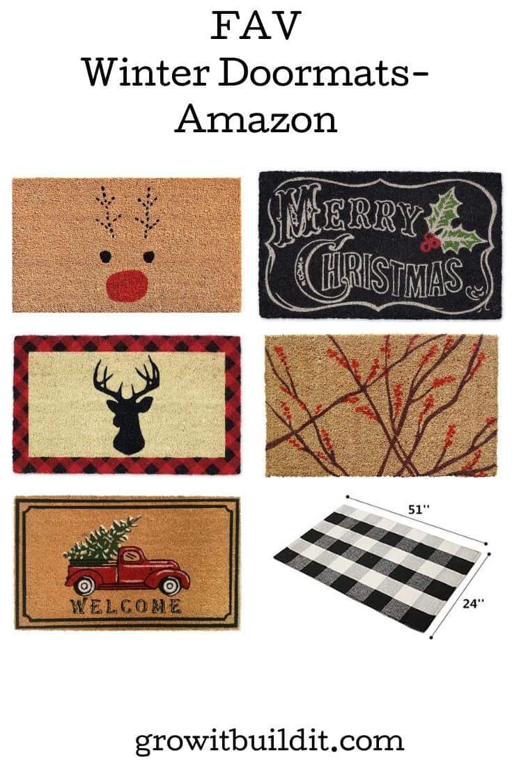 Winter and Christmas Doormats